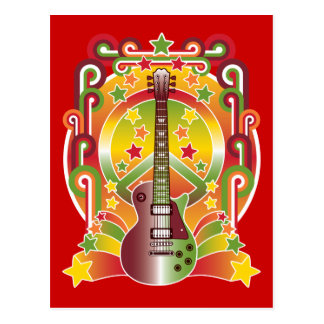 Rock Star Peace Postcard
