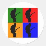 Rock Star Pop Art Stickers