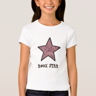 Rock Star Rock Texture with Custom Text T-Shirt