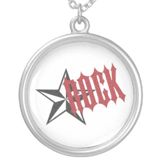 Rock Star Round Pendant Necklace