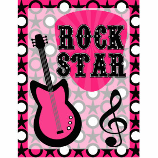 Rock Star Standing Photo Sculpture