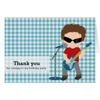 Rock Star Thank you Card