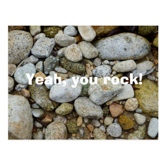 Rock, stones and pebbles postcard