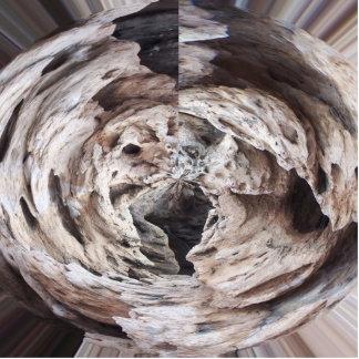 Rock swirl grey brown kaleidoscope design image photo sculpture key ring
