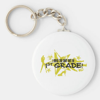 ROCK THE SNOT OUT - 1ST GRADE BASIC ROUND BUTTON KEY RING