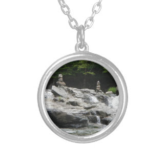 Rock Towers Round Pendant Necklace