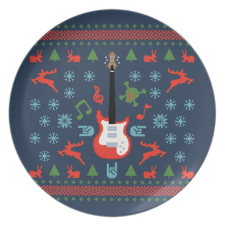 Rock Ugly Sweater Tees Dinner Plate