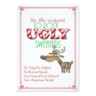 Rock Ugly Sweaters Holiday Party Invitation