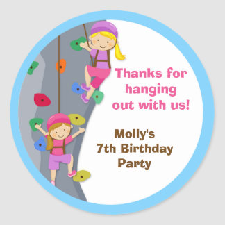 Rock Wall Birthday Party Favor Stickers