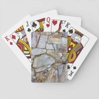 Rock Wall Texture Photo on Cardstock Playing Cards
