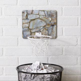Rock Wall Texture Photo on Mini Basketball Hoop