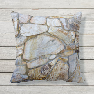 Rock Wall Texture Photo on Pilllow Outdoor Cushion