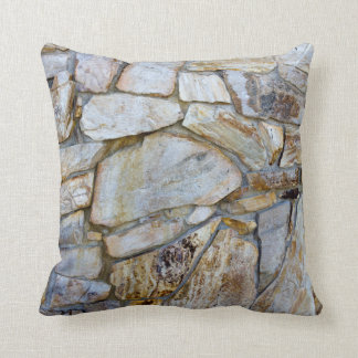 Rock Wall Texture Photo on Pilllow Throw Pillow