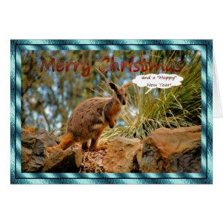 ROCK WALLABY CHRISTMAS Xmas animals Card