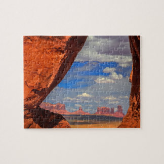 Rock window to Monument Valley, AZ Jigsaw Puzzle