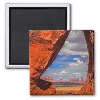 Rock window to Monument Valley, AZ Magnet