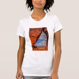 Rock window to Monument Valley, AZ T-Shirt