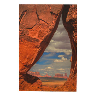 Rock window to Monument Valley, AZ Wood Wall Art