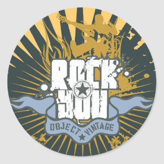 Rock You Tshirts and Gifts Classic Round Sticker