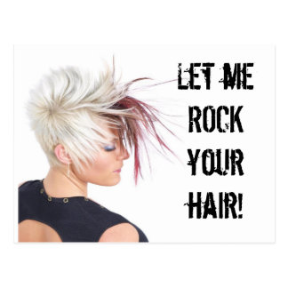 ROCK your hair!!! Postcard