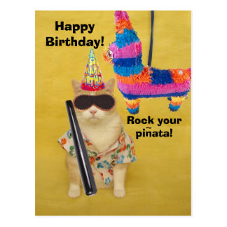 Rock your pinata! postcard