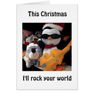 ROCK YOUR WORLD THIS CHRISTMAS-LOVE CARD PENGUIN