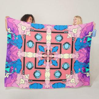 Rockabilly Acid Comic Trip Satin Fleece Blanket
