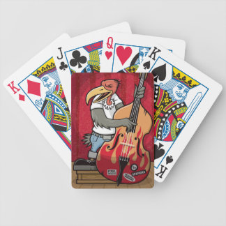 Rockabilly Bird Bicycle Playing Cards