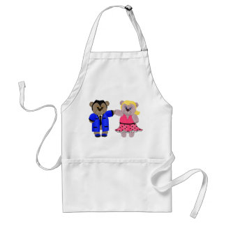 Rockabilly Boy and Girl Teddy Bear Couple Standard Apron