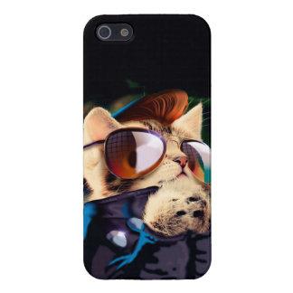 Rockabilly cat - biker cat - rocker cat - cute cat case for the iPhone 5