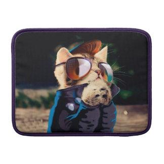 Rockabilly cat - biker cat - rocker cat - cute cat MacBook sleeve