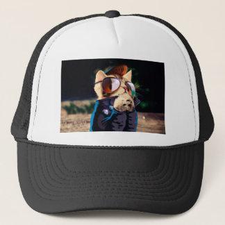 Rockabilly cat - biker cat - rocker cat - cute cat trucker hat