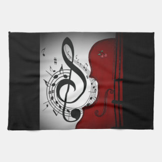 ROCKABILLY CELLO/VIOLIN ART PRINT KITCHEN TOWEL
