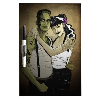 Rockabilly Couple Dry Erase Whiteboard