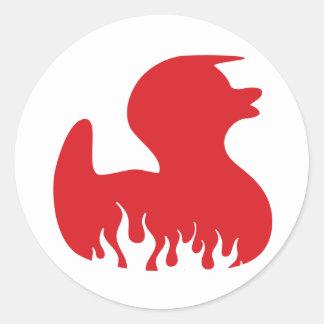 Rockabilly Duck Classic Round Sticker