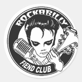 rockabilly fien classic round sticker