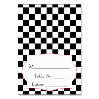 Rockabilly Hearts and Rose Place Card