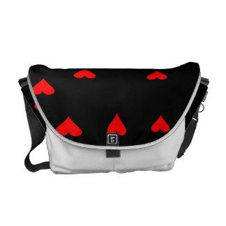 Rockabilly hearts bag messenger bag