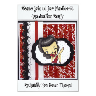 Rockabilly Hoe Down Party Card