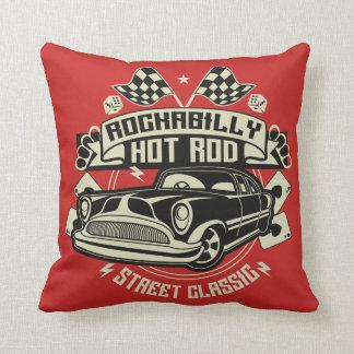 RockaBilly HotRod Throw Pillow