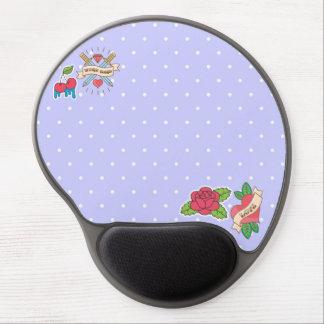 Rockabilly, Polka dot, Tattoo Cute Gel Mouse Pad