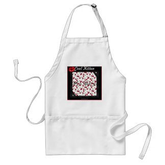 Rockabilly rab Cool Kitten My Diary Gifts Apparel Standard Apron