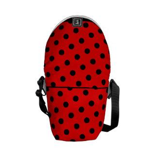 Rockabilly  red and black polka messenger bag