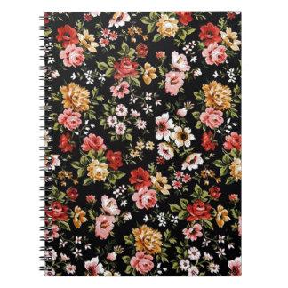 Rockabilly retro fifties floral daisies notebook