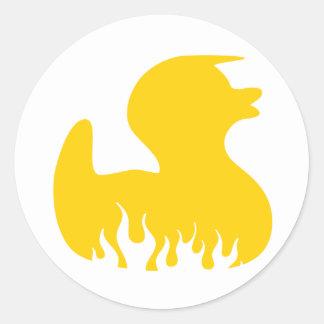 Rockabilly Rubber Duckie Classic Round Sticker