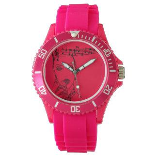 rockabilly singer design for wrist watch
