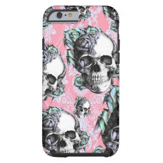 Rockabilly Skulls in Spring. Tough iPhone 6 Case