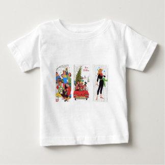 rockabilly vintage Christmas Baby T-Shirt