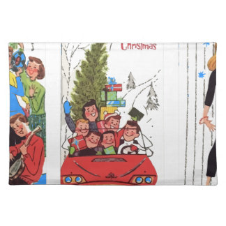 rockabilly vintage Christmas Placemat