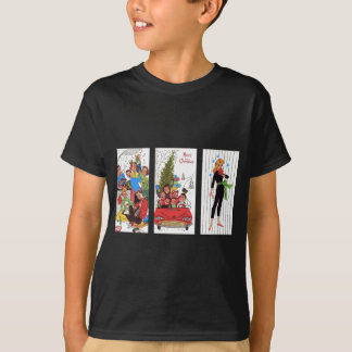 rockabilly vintage Christmas T-Shirt